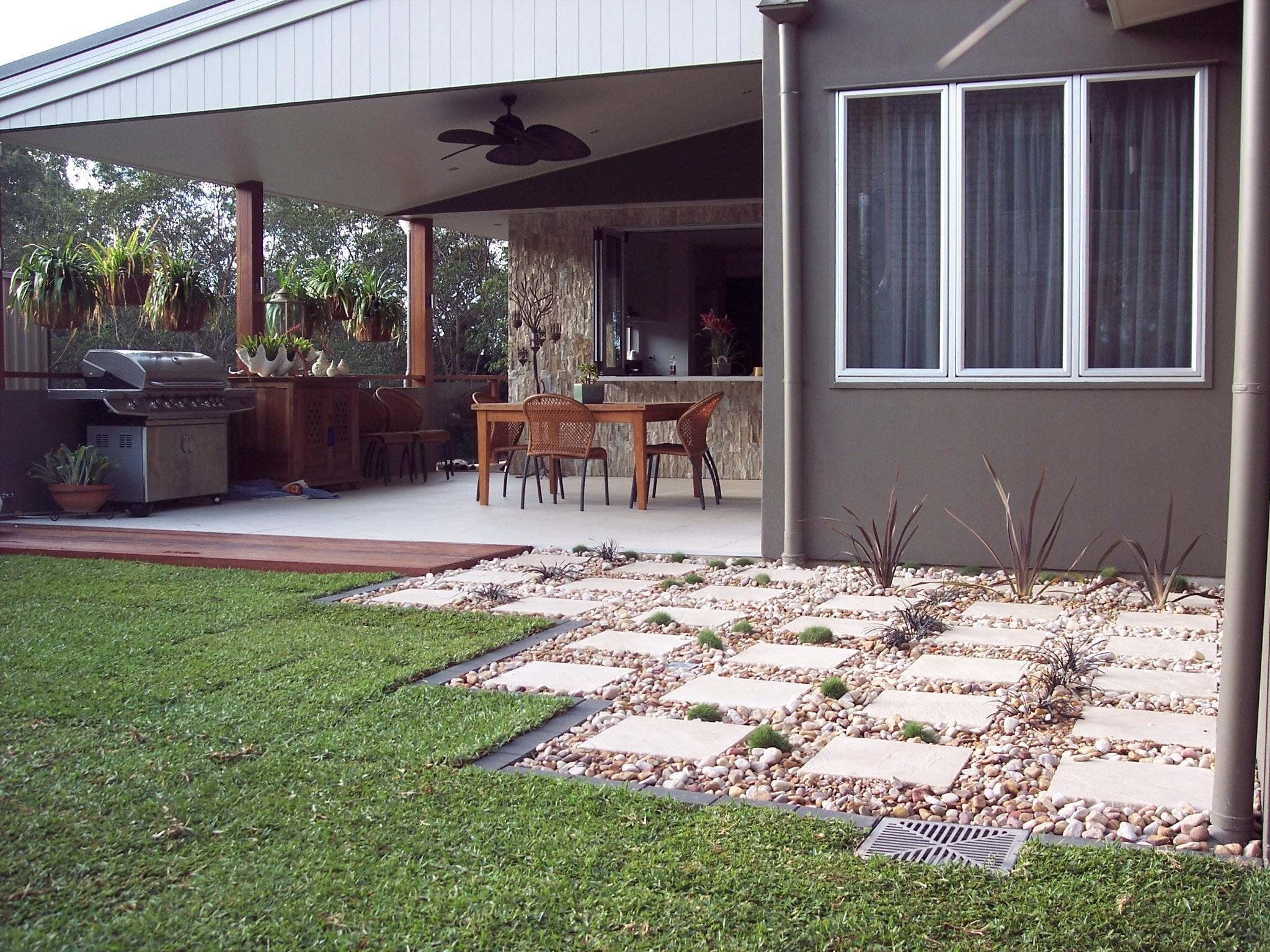Backyard landscaping mcdowall brisbane for New home designs brisbane