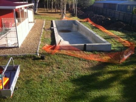 Brisbane Landscaping - Pool before landscaping