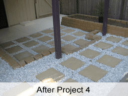 Paving and retainer wall Redcliffe