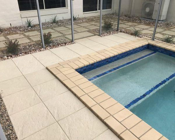 Paving pool surrounds - Landscaping Brisbane
