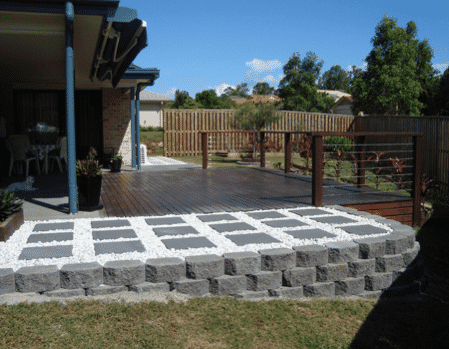 Brisbane Landscaping - link retaining wall Brisbane