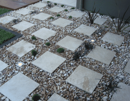 paving with garden lighting McDowall