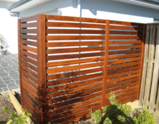 Sunshine coast landscaping - timber screen
