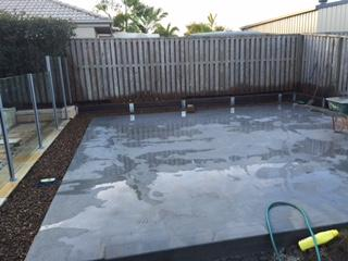 timber look concrete sleeper retaining wall - Sunshine Coast