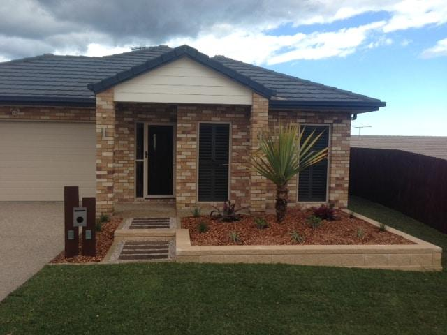 brisbane landscaping front yard landscaping after completion north lakes qld