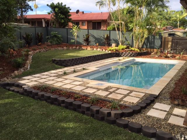 Brisbane pool landscaping after