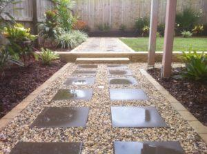 Courtyard landscaping Alderly