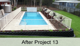 swimming pool landscape Brisbane after