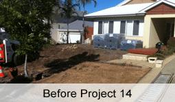 retaining wall before