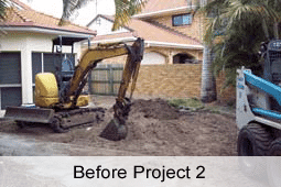 Brisbane landscape excavations