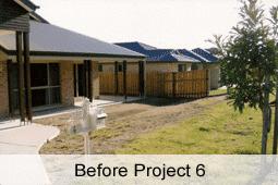 Natural designed landscape area before project commencement