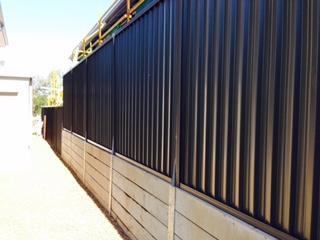 Brisbane Concrete sleeper retaining wall