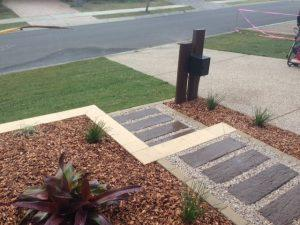 Rustic landscape design - North Lakes QLD