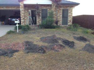 Brisbane Landscaping - Landscaping before photo of landscaping project in North lakes QLD