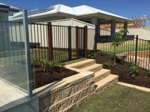 Brisbane Landscaping - Gb Heron steps with double gates