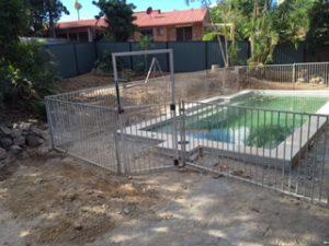 North Brisbane Pool landscaping Before