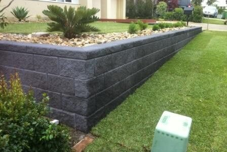Brisbane Landscapers heron block retaining wall project