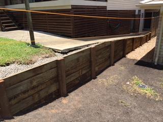 Retaining wall Sunshine Coast - h4 hardwood