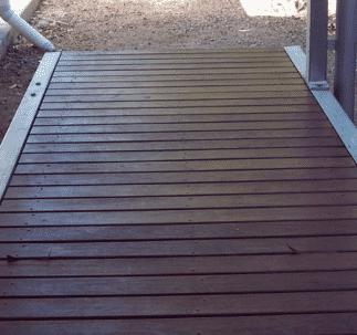timber landscaped boardwalk