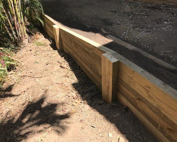 Treated Pine retaining wall Brisbane