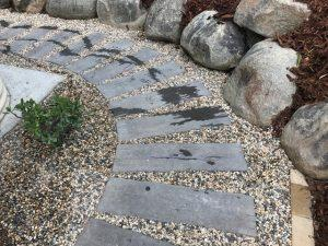 Timber stone path - Brisbane landscaping
