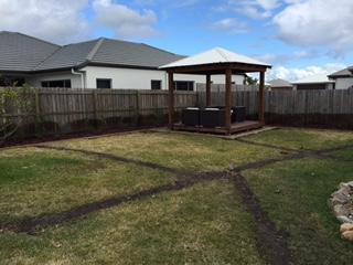 Brisbane irrigation - Sunshine Coast Irrigation - trenches backfilled
