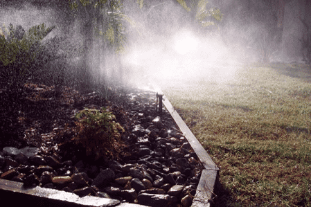 micro sprinklers misting in Brisbane irrigation and reticulation project