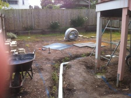 Brisbane Landscaping Before backyard landscape works