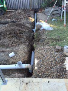 storm water drainage installation