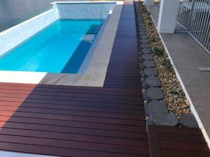 Pool Surround Decking - Bribie Island Landscaping