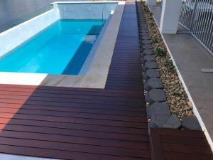 Pool Surround Decking - Bribie Island Landscaping