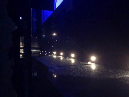 Mini deck lights in merbau deck