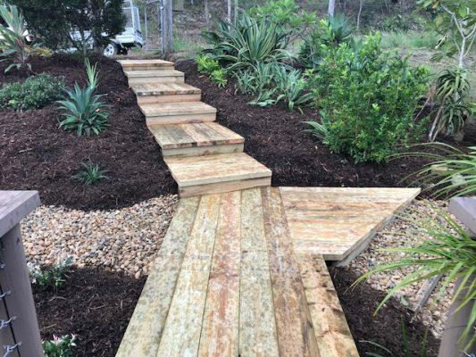 Landscape stairs after landscaping - Brisbane