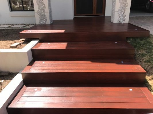 Brisbane Landscaping - Merbau decking steps