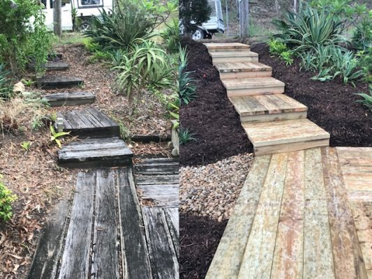Landscaping Brisbane- Before & After images of Brisbane landscaping projects
