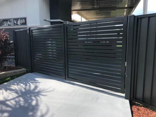 Landscaping Brisbane - Aluminium screen - Gate - Colourbond panel