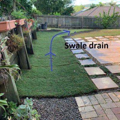 Landscaping Br.isbane - swale drain