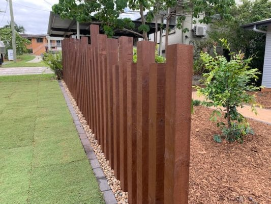 Designer fence - Landscaping North Brisbane