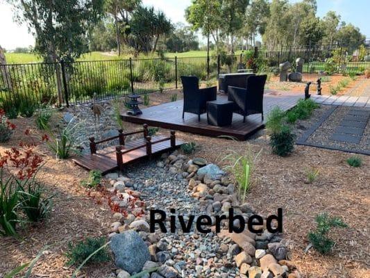 Landscape drainage - Riverbed