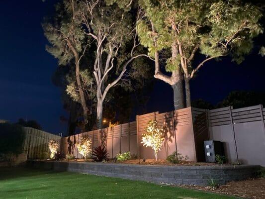 Landscape garden lighting - North Brisbane landscape project